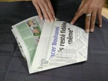 origami poubelle pour biodéchets